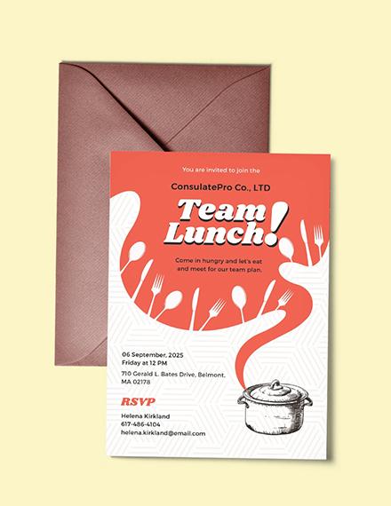 retro team lunch invitation example
