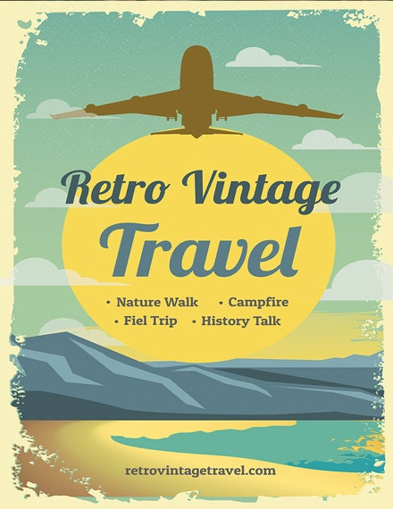 Retro Vintage Travel Poster Example