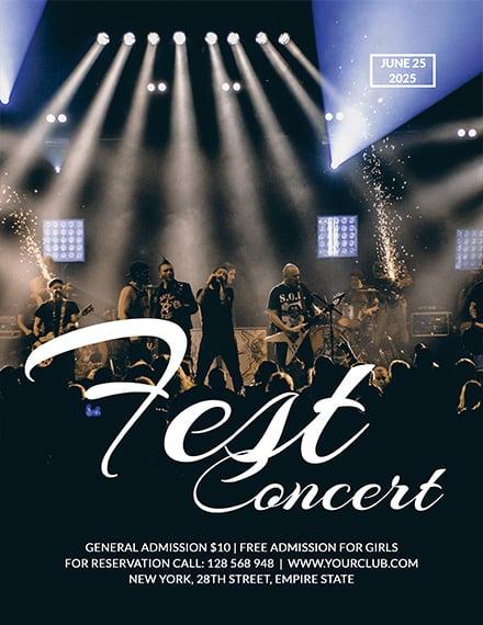 Rock Concert Fest Flyer Template 1x