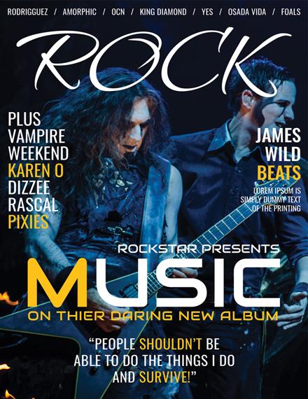 rock music magazine cover template 1x
