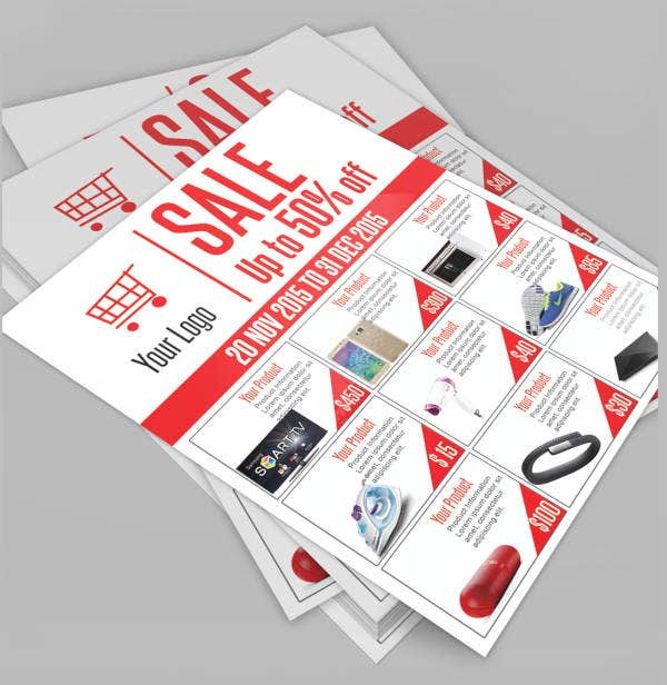 sale flyer psd template