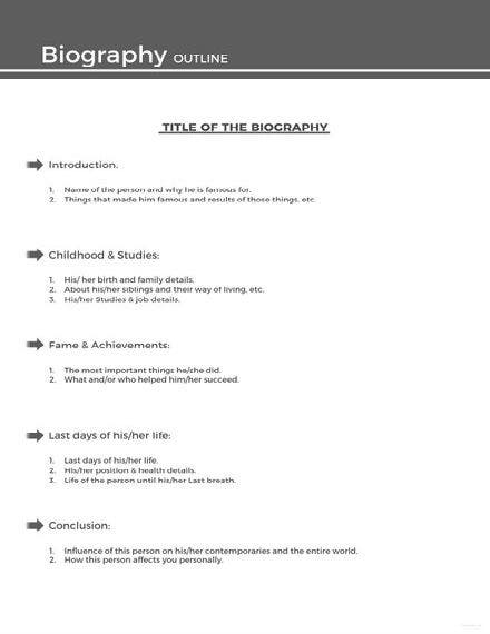 sample biography outline 440x622