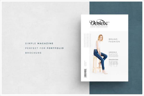 sample fashion magazine template