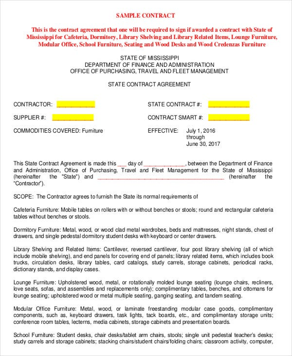 sample purchase agreement contract