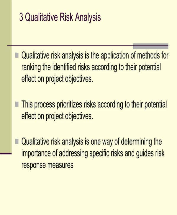 Sample Qualitative Risk Analysis Template