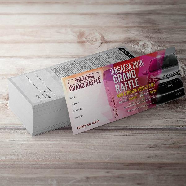 sample raffle tickettemplate