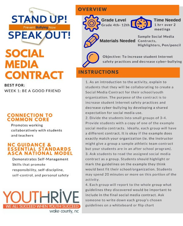 sample social media contract 1