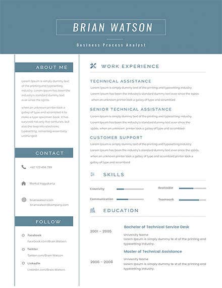 senior-business-process-resume-sample