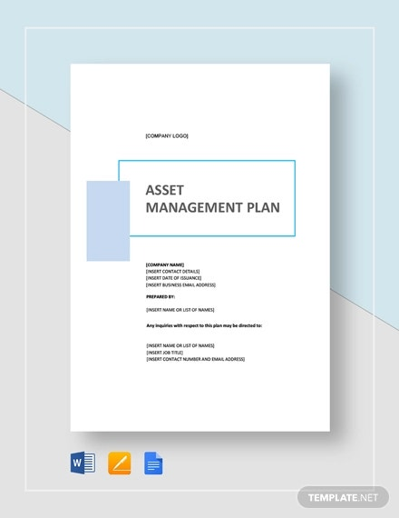 simple asset management plan template