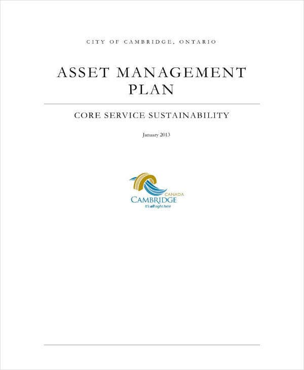 7+ Asset Management Plan Templates - PDF, Word | Free