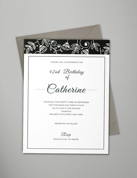 Simple Birthday Event Invitation Sample