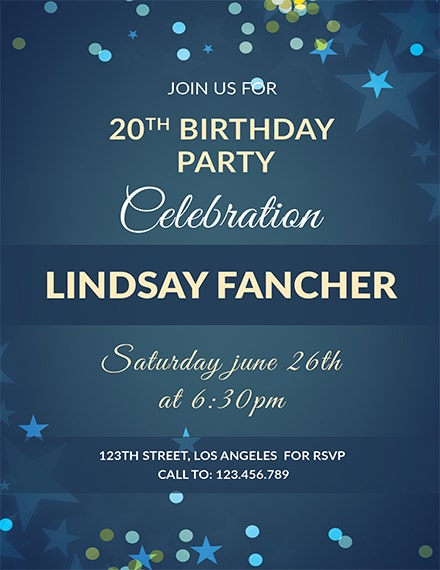 simple birthday invitation template