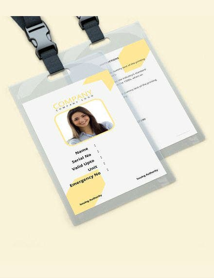 simple blank id card template