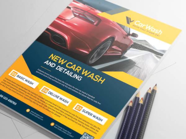 simple car wash flyer