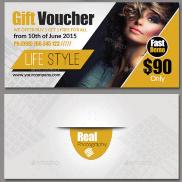 simple clean gift voucher template