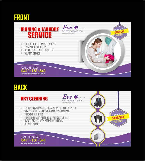 simple cleaning flyer design