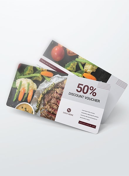 Simple Dinner Discount Voucher Sample