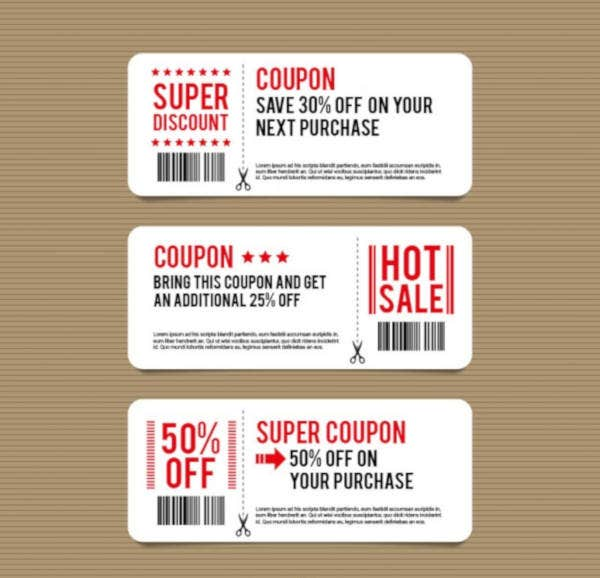 Simple Discount Coupon Template