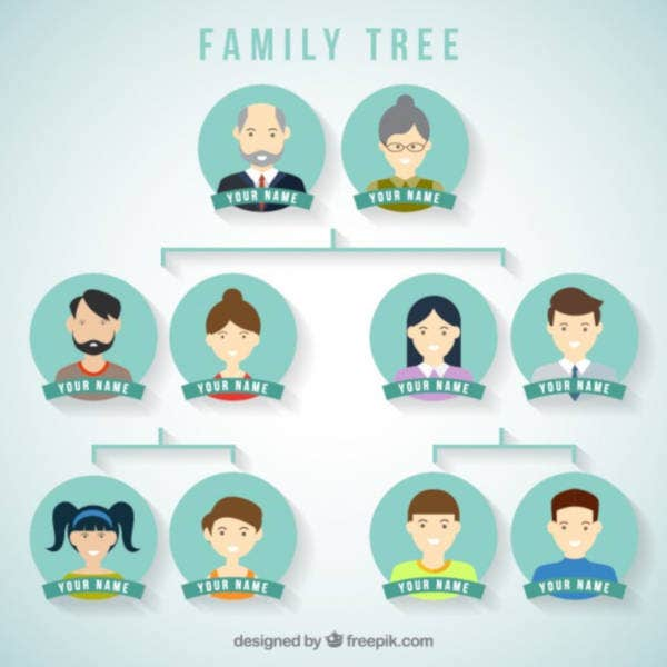simple family tree vector template