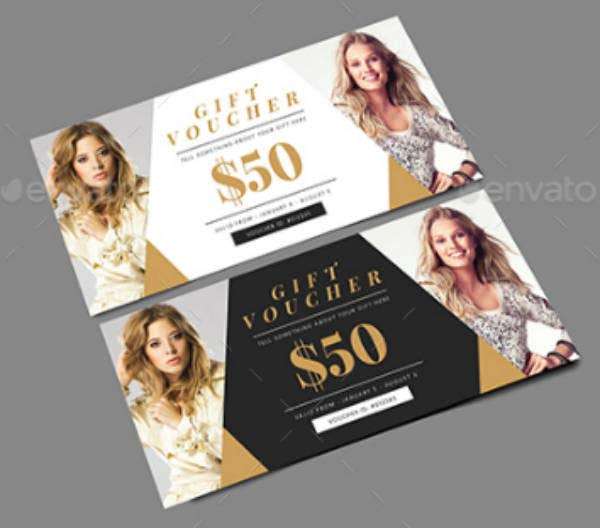 simple fashion gift voucher template