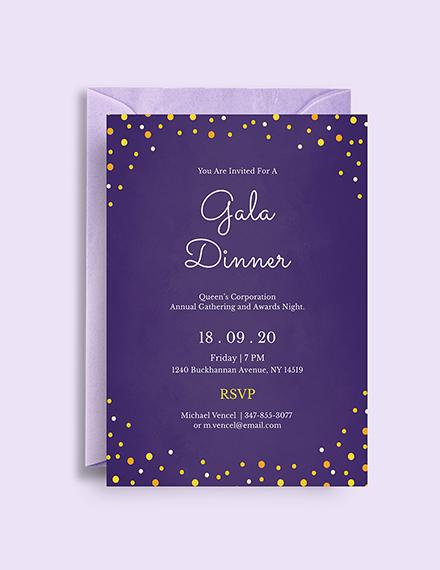 simple gala dinner invitation sample