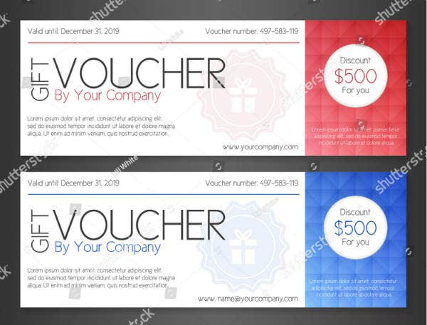 simple gift voucher design