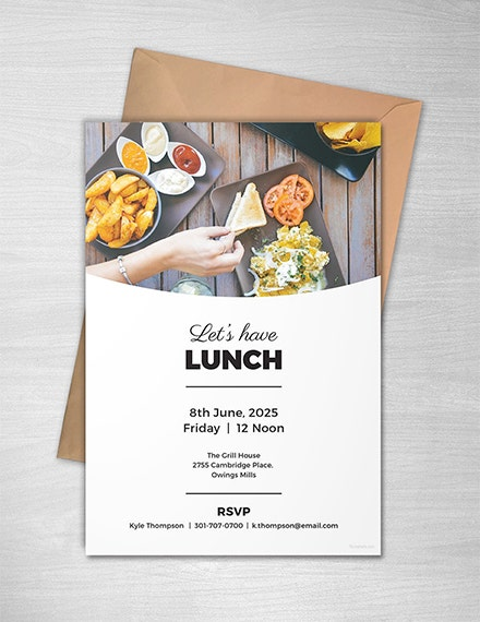 simple lunch event invitation sample