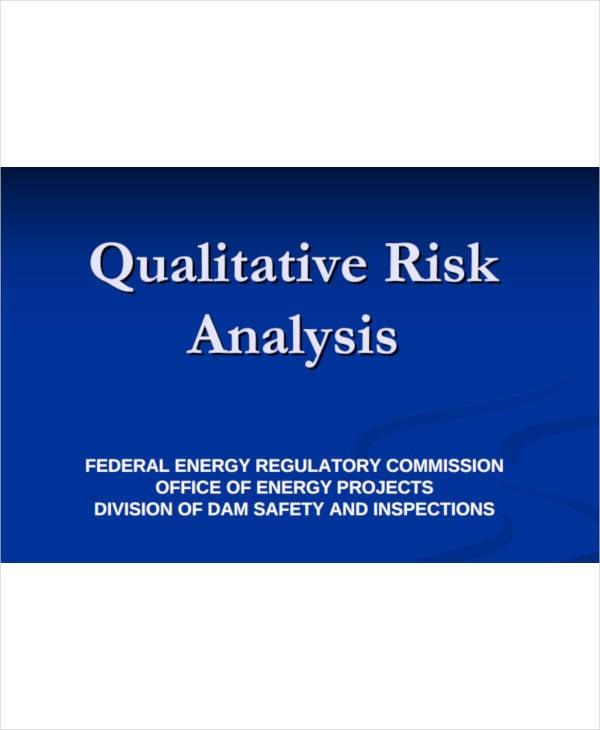 simple qualitative risk analysis