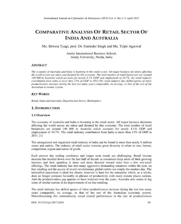 simple retail industry analysis 1