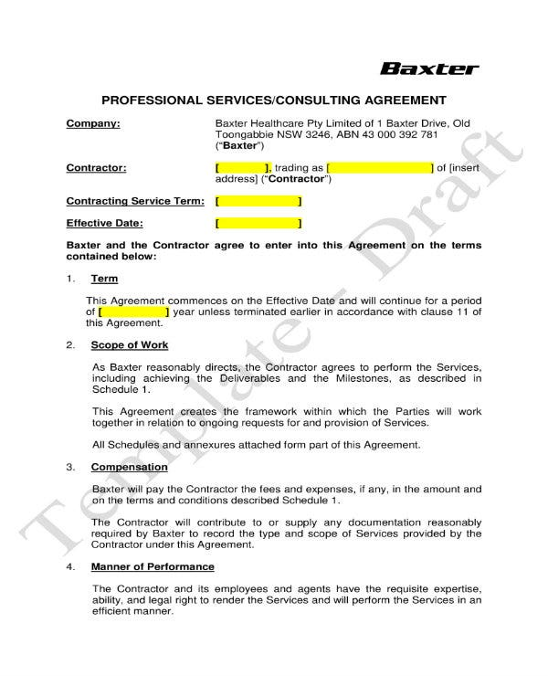 simple training consultant contract 01