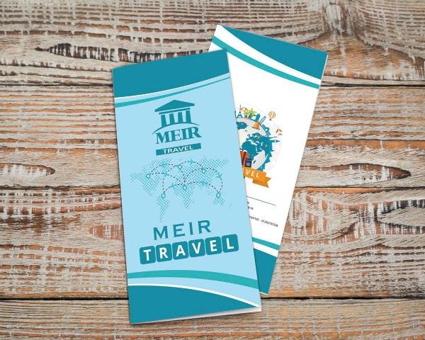 simple travel company ticket template