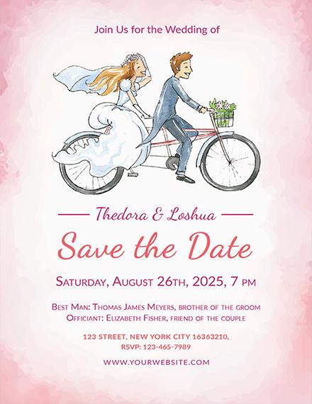 simple wedding invitation template1