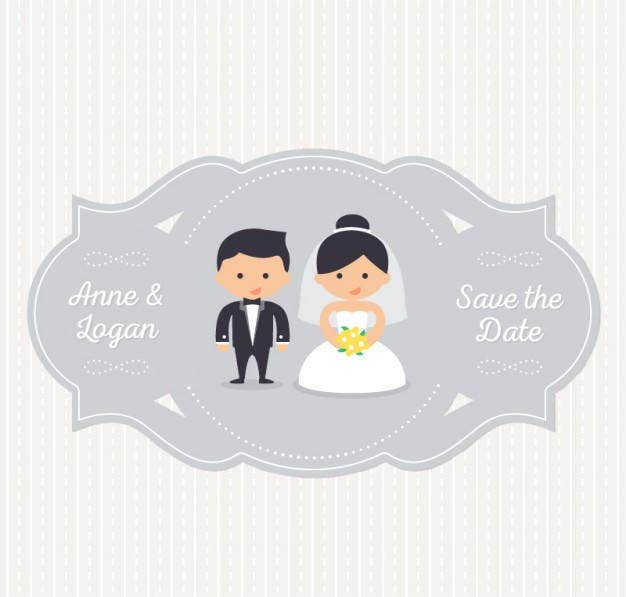 simple wedding label template