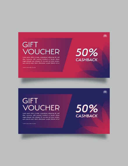 simplistic colored gift voucher design