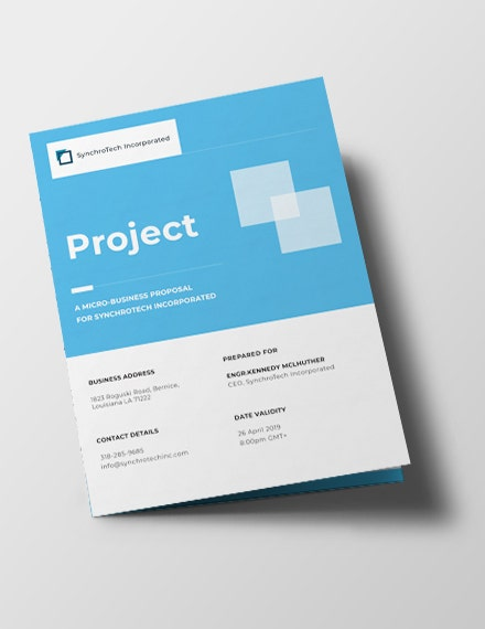Small Business Project Brochure Template