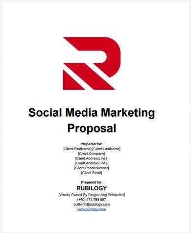 social media marketing contract proposal