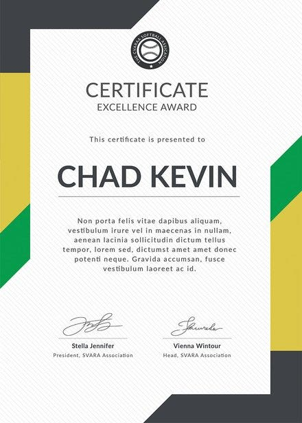Softball Certificate 1 440x616