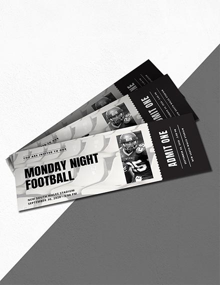 sports event ticket invitation sample