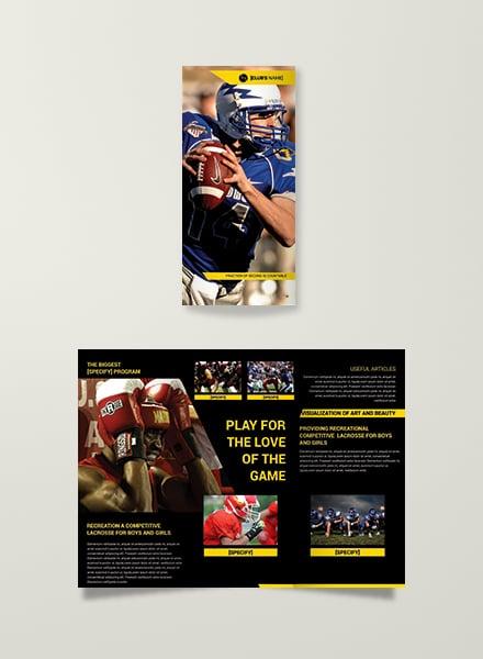 Sports Trifold Advertising Brochure Design