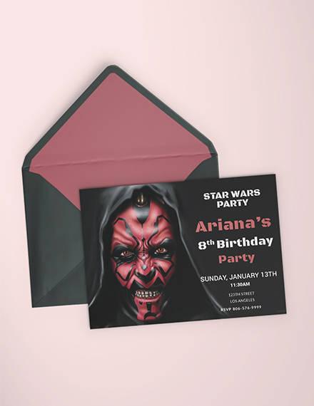 star wars birthday invitation template1