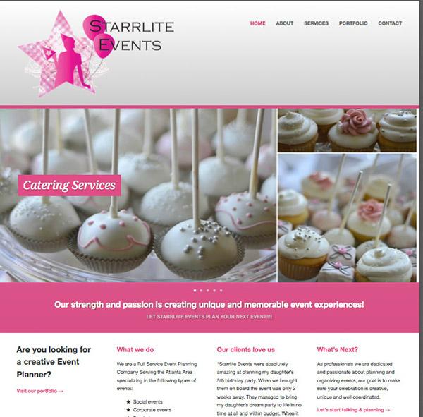 starrlie events planner website sample
