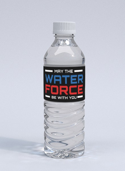 starwars water bottle label