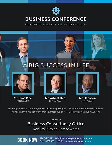 Successful Business Conference Flyer Template