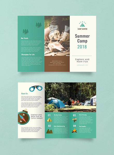 summer camp advertising brochure template