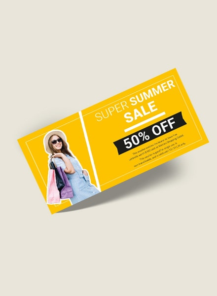 summer shopping gift voucher sample