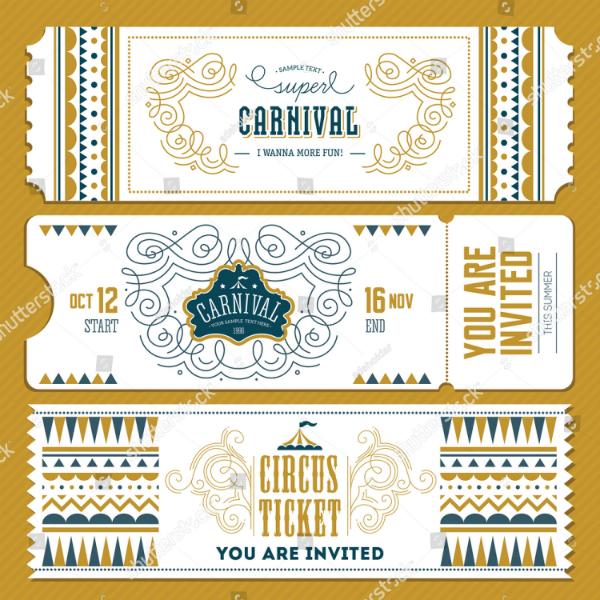 super carnival event ticket template
