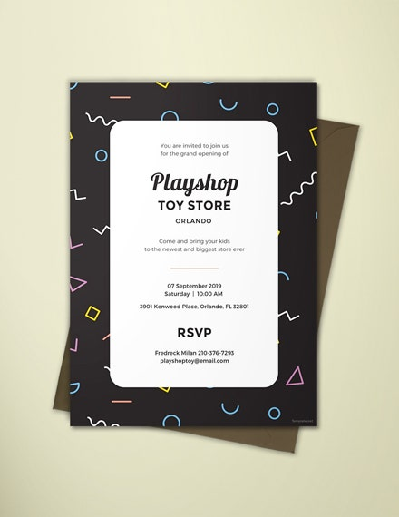 toy store event invitation template