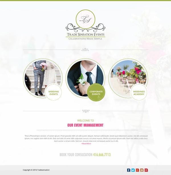 trade sensation event planner website