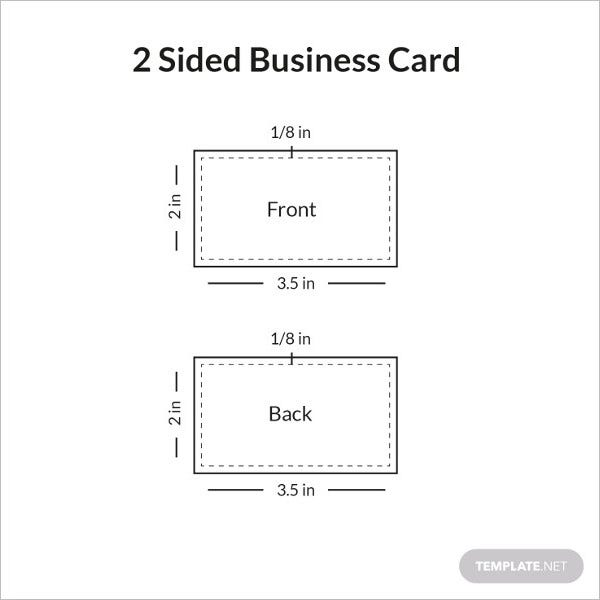 two sided business card sample infographic1
