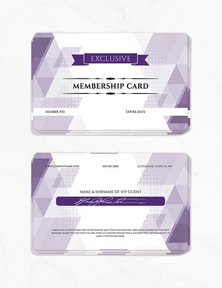 vip member card template